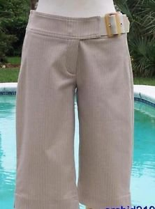 Cache $88 SELF-BELT WALKING BERMUDA CITY Short Pant NWT XS/S/M METALLIC KISSED