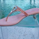 Marvin Aquatalia $225 CROC Leather Shoe Sandal NIB 7.5 SUEDE FOOT BED T-STRAP
