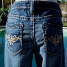 Cache $98 DENIM BUTTON EMBELLISHED Jean Pant NWT CROP STRETCH 0/2/6/8/10/12