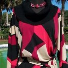 Cache $158 GEOMETRIC COLOR BLOCK NWT XS/S/M/L/XL TUNIC DRESS + REMOVEABLE BELT