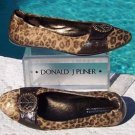 Donald Pliner $375 COUTURE GATOR LEATHER RHINESTONE PEACE Flat Shoe NIB HAIRCALF