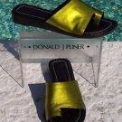 Donald Pliner $235 COUTURE CACTUS METALLIC LEATHER Shoe NIB FLAT SLIDE 5.5