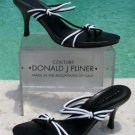 Donald Pliner COUTURE $225 MESH ELASTIC LEATHER Shoe NIB BLACK & WHITE SIGNATURE