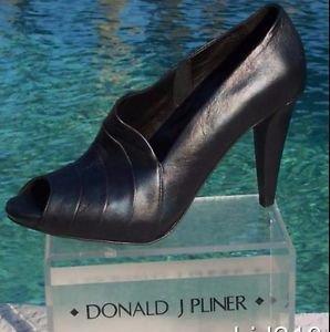 Donald Pliner $395 COUTURE LEATHER Boot Shoe Pump NIB ASYMMETRICAL DESIGN