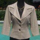 Cache $178  ALMOND METALLIC  LINEN BLEND  COAT Jacket Top NWT XS/S LINED