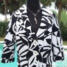 Cache LUXE $158 LINED SWING JACKET EVENT Top NWT S/M/L JACKIE-O CLASSIC BLK WHT