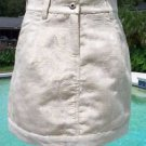 Cache LUXE $158 METALLIC JACQUARD BANDED BOTTOM Skirt NWT 0/2/4/6/8/10/12/14