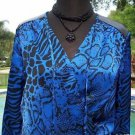 Cache $138 SILK pLEATHER SHOULDERS Top NWT XS/S/M FAUX WRAP SHIRRED WAIST