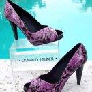 Donald Pliner $400 COUTURE PYTHON LEATHER Shoe Pump NIB PEEP-TOE PLATFORM