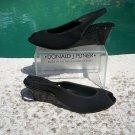 Donald Pliner $225 COUTURE BLACK MESH PATENT LEATHER WEDGE Shoe NIB PEEP-TOE