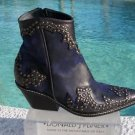Donald Pliner $625 WESTERN COUTURE VINTAGE SUEDE CRUSH LEATHER BOOT Shoe NIB NEW