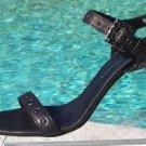 Donald Pliner $255 COUTURE LEATHER GROMMET SANDAL Shoe NIB 10 ANKLE WRAP