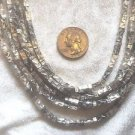 Chicos Statement Necklace SIGNED EUC SILVER METAL HAMMERD TEXTURED CHAINS