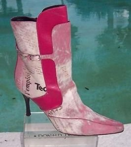 Donald Pliner $650 COUTURE BABY CALF LEATHER Boot Shoe NIB HAIR CALF FUCHSIA NEW