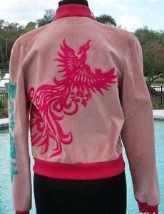 Donald Pliner $1500 BUTTER LEATHER Bomber Jacket Coat EMBROIDERY NWT XS/S