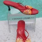 Donald Pliner COUTURE $225 MESH ELASTIC LEATHER Shoe NIB 9.5 TIE DYE STRAPY