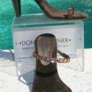 Donald Pliner $250 COUTURE METALLIC LEATHER Shoe NIB 10 CHUNKY STONES VELVET NEW