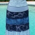 Cache $236 LOT 2  STRETCH COLOR BLOCK LACE Lined Skirt + Top NWT XS/S 2 PIECES