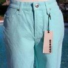Cambio $155 STRETCH Karen 4 Pocket Denim Pant NWT 4/6 S MODERN AQUA / TURQUOISE