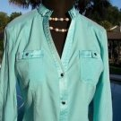 Cache $118 BANDED COLLAR CHARM CARGO Top NWT XS/S SILK STRETCH