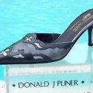 Donald Pliner $325 COUTURE LEAD PEWTER ANTIQUE METALLIC LEATHER MULE Shoe NIB