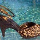 Donald Pliner $350 COUTURE GATOR LEATHER PLATFORM Shoe NIB HAIR CALF 6 6.5 NEW
