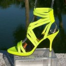 Donald Pliner $250 COUTURE LEATHER STRAPPY STACK ANKLE ELASTIC Shoe NIB 7.5 9
