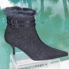Donald Pliner $450 COUTURE QUILTED LEATHER MINK CUFF Boot Shoe NIB SIDE ZIP 6.5