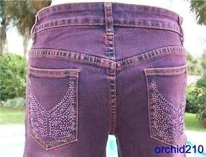 Cache $198 RHINESTONE EMBELLISHED Jean Pant NWT 2/4 XS/S STRETCH DRESS UP OR DOW