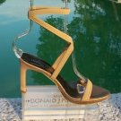 Donald Pliner $250 COUTURE METALLIC LEATHER Shoe NIB DOUBLE WRAP ANKLE STRAP
