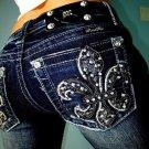 Miss Me Signature Bootcut  27  New NWT Womens Denim Jeans Fleur De Lis