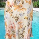 Ellen Tracy $195 Linda Allard100% SILK SKIRT NEW SZ4 FLORAL TROPICAL TULIP LINED