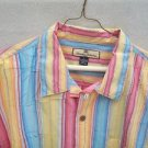 TOMMY BAHAMA $$$ RARE MULTI COLOR STRIPE SIGNATURE SPORT CASUAL SHIRT XL LN EUC