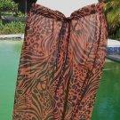 VENUS Swimwear $45 MESH PANT NWT ANIMAL REPTILE OSFA DRAWSTRING WAIST COVER UP