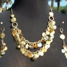 Cache Earring + NECKLACE $65 NWT  DANGLE EVENT  MIXED METALS LOT 2 MATCH TOPS