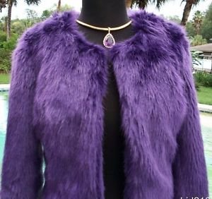 Cache $228 FLUFFY CHUBBY Faux FUR  Coat Top NWT XS/S Lined Delicious SEXY