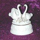 Porcelain Musical Swans