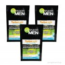 3x7ml GARNIER Men Turbo Light Oil Control Brightening Moisturiser Complete Shine