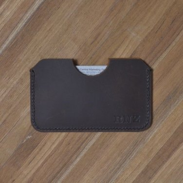Handmade Genuine Leather WALLET Personalized VISA card holder Free shipping #5