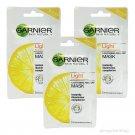 3pcs GARNIER Skin Naturals Light Pure lemon essence Lightening Peel-Off MARK