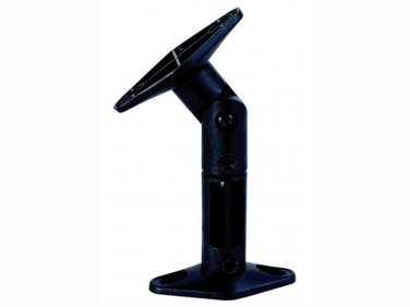 Adjustable 10 lb. Capacity Speaker Wall Mount Brackets (Pair), Black