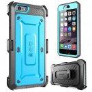 SUPCASE Belt Clip Holster Apple iPhone 6 Plus Case 5.5 Inch (Blue/Gray)