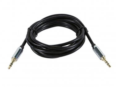 10ft Designed for Mobile 3.5mm Stereo Male to Male Gold Plated Black