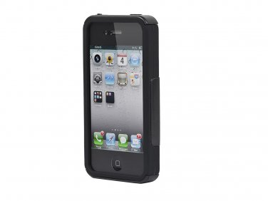 Dual Guard PC+Silicone Case for iPhone 4/4s - Black