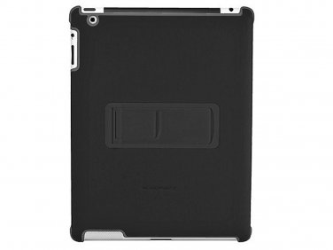Polycarbonate & Synthetic Leather Stand Case for iPad 2 - Black