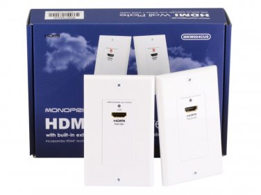 HDMI Over CAT5E / CAT6 Extender Wall Plate (Pair) - Single Port (1P) - White