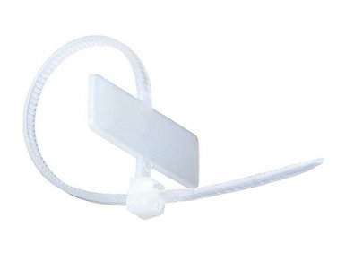 Marker Cable Tie 4 inch 18LBS, 100pcs/Pack - White