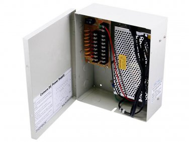 8 Channel CCTV Camera Power Supply - 12VDC - 13Amps