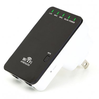 300Mbps Wireless-N WiFi Mini Router Repeater Range Extender Booster 802.11n/g/b