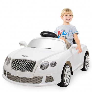 12V Bentley GTC Kids Ride On Car Electric RC Remote Control w/Lights MP3 White